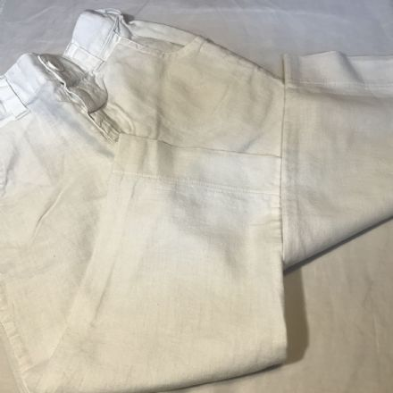 18-24 Months White Linen Mix Trousers
